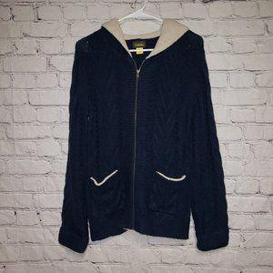 Cabelas Chunk Knit /Fleece Full Zip Hooded Jacket